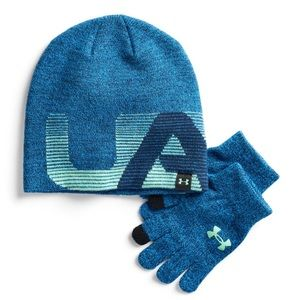 🔥SALE🔥UNDER ARMOUR UA Boys Beanie Hat and Gloves